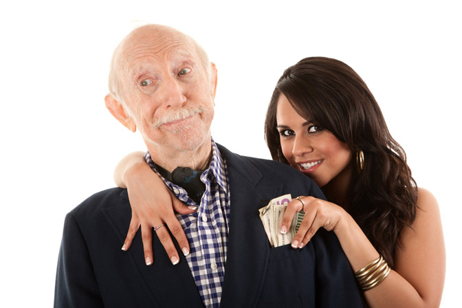 Неравный брак по возрасту - отшошения пожелого мужчины и женщины
