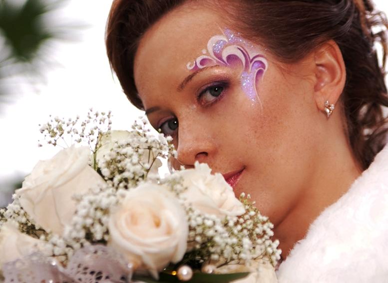 Свадебный аквагрим