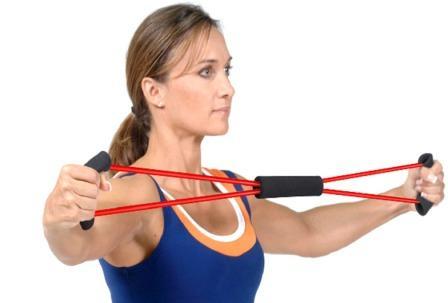 Упражнение для укрепления женской груди с эспандером