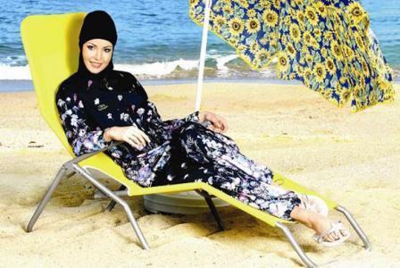 Купальник для мусульманок открытого и закрытого типа