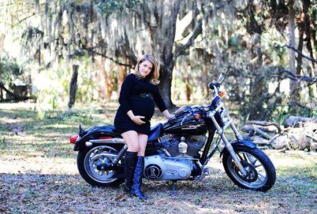 Мотоцикл во время беременности