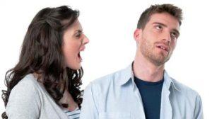 Ссора между мужчиной и женщиной: ему всеравно